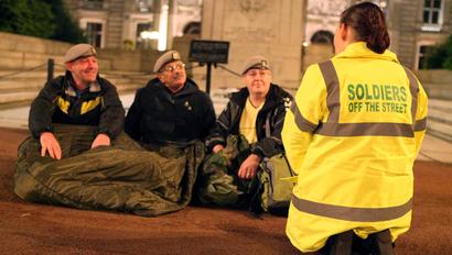 Homelessness amongst Military Veterans