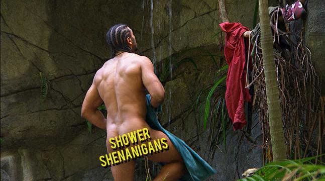 David Haye showers