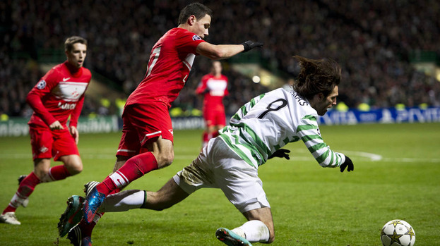 GIF: Georgios Samaras dived to win Celtic a penalty but no one cares as the Scots go through