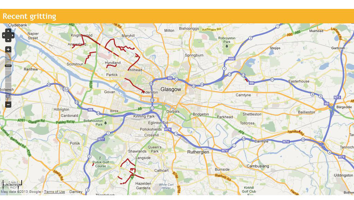 Live gritting information now available on Glasgow City Council ...