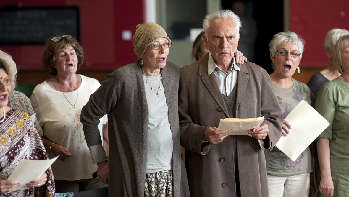 Terence Stamp in Song for Marion with co-star Vanessa Redgrave