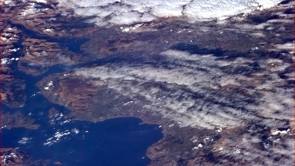 Scotland's 'skinny waist' from the International Space Station