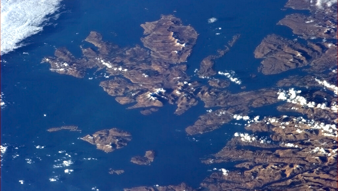 The Isle of Skye from the International Space Station