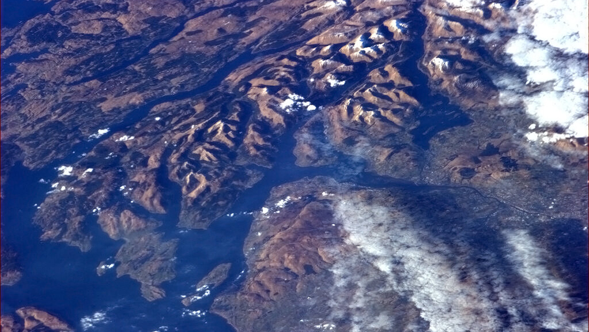 Prestwick to Glasgow from the International Space Station