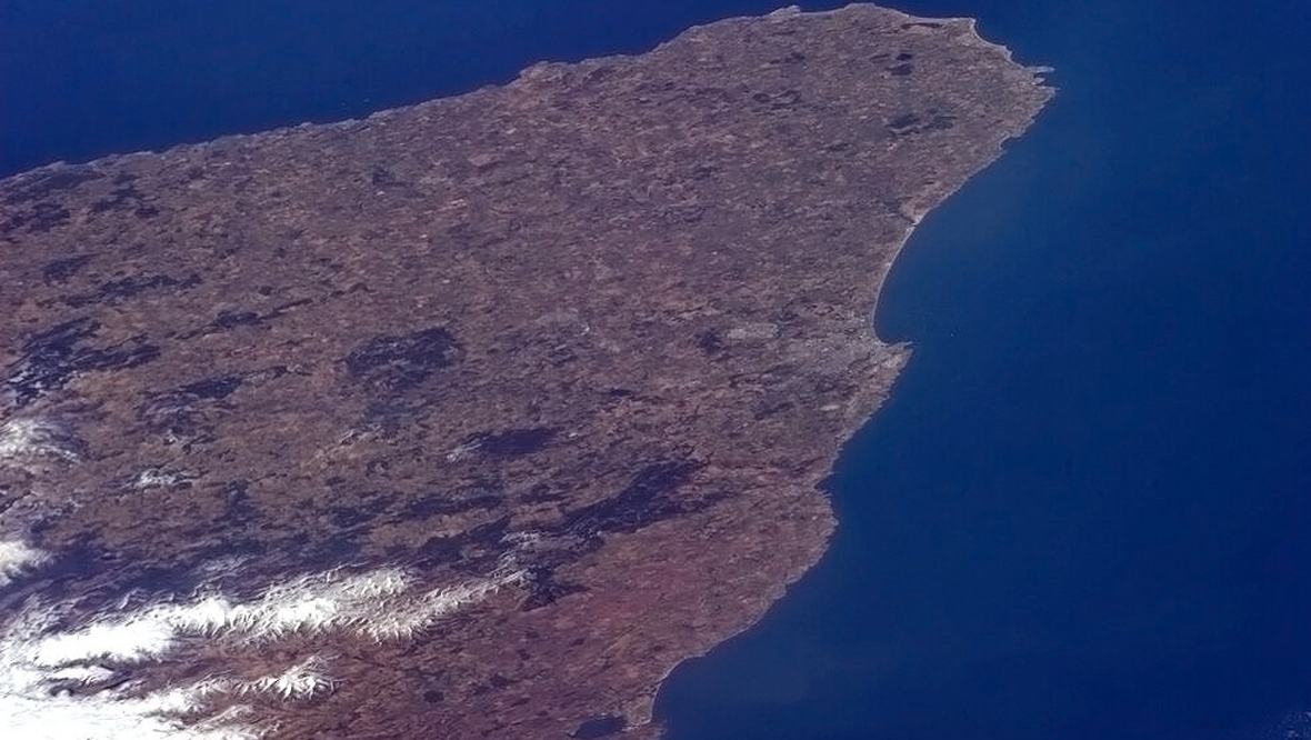 Montrose to Peterhead from International Space Station