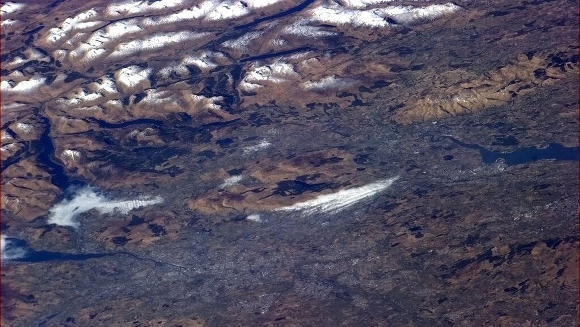 Bonnie hills of Loch Lomond from the International Space Station
