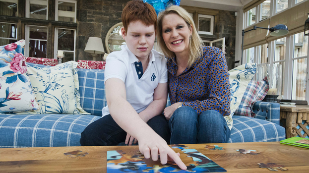 Ann Maxwell with son, Muir Maxwell who has dravet syndrome
