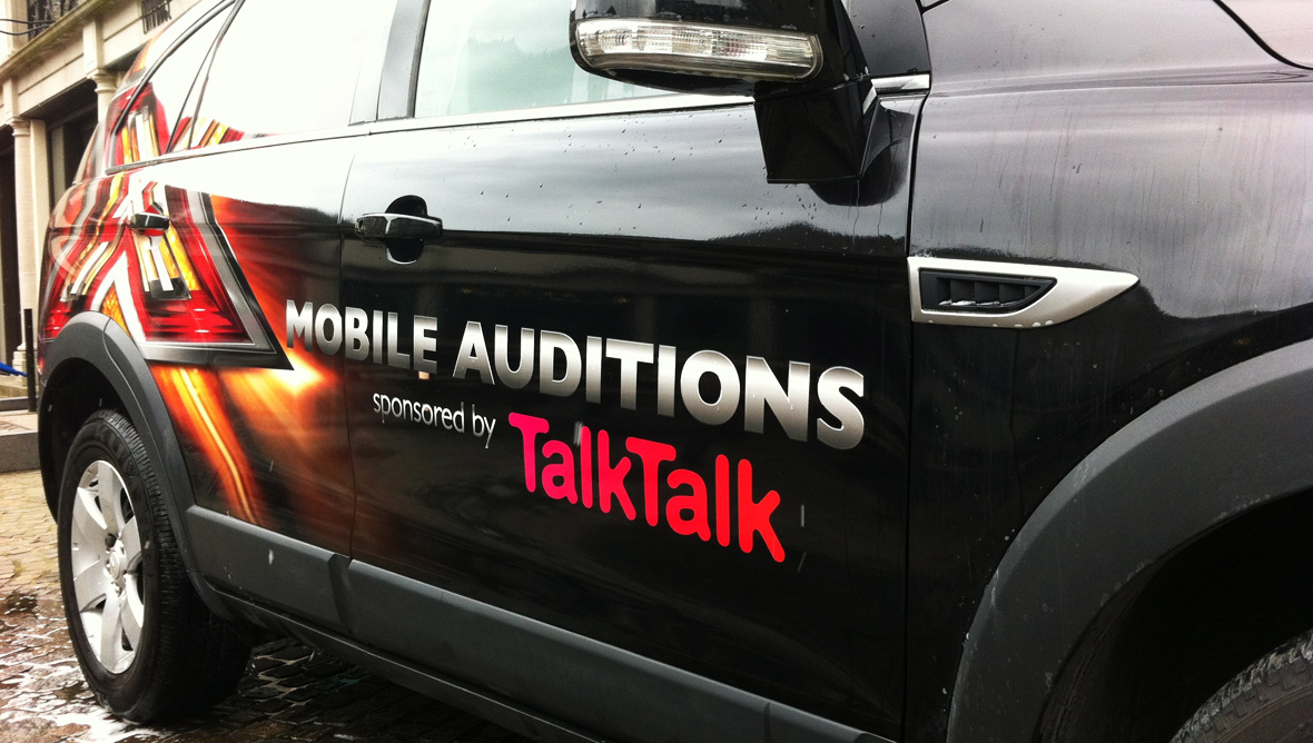 X Factor mobile audition van