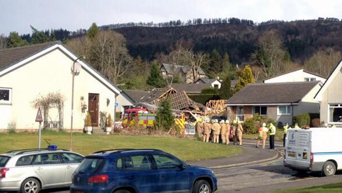 Scene of gas explosion in Callander