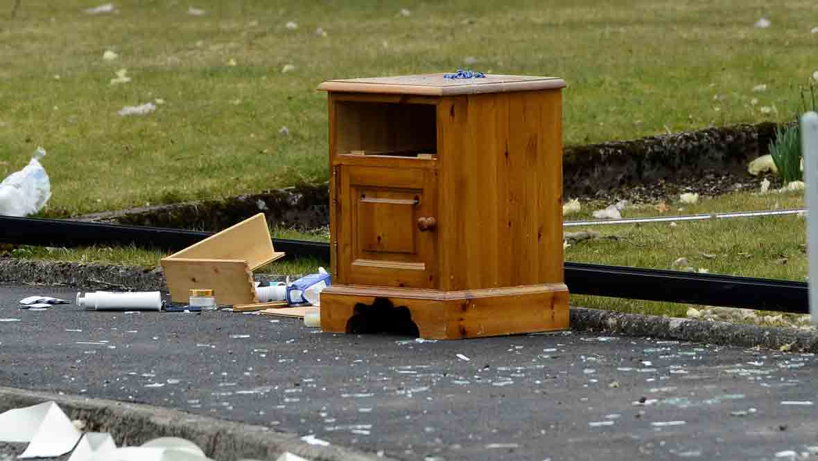 Furniture thrown clear of gas explosion in Callander