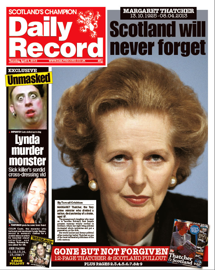 How the Scottish Press covered the news of Margaret ... Daily Record