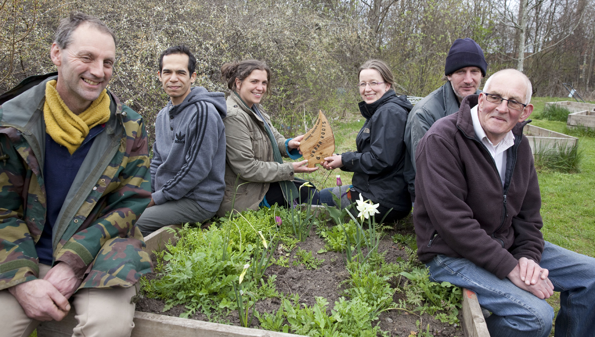 Volunteers and staff at Urban Roots