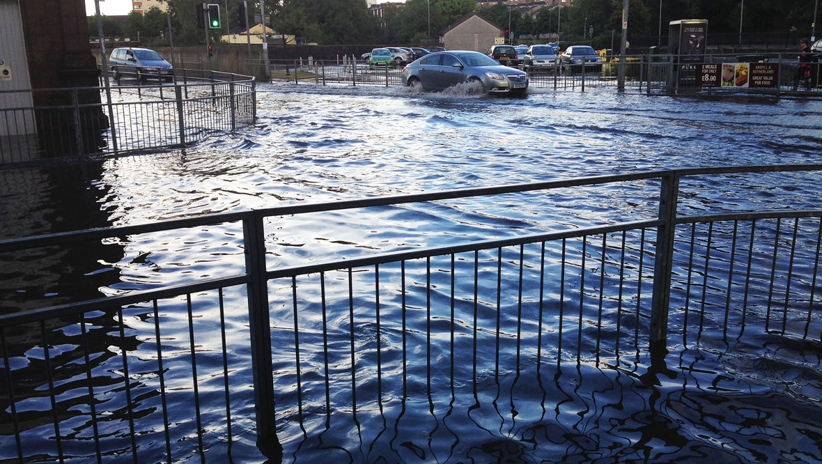 Flooding in Greenock Street