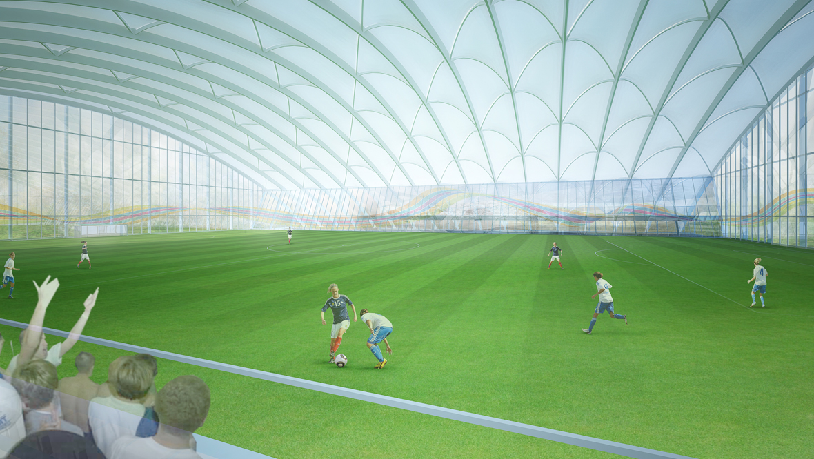 Indoor pitch at the National Performance Centre for Sport