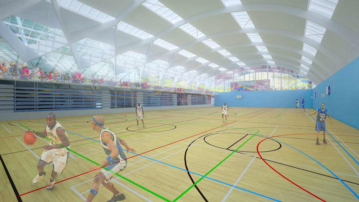 Sports hall at the National Performance Centre for Sport