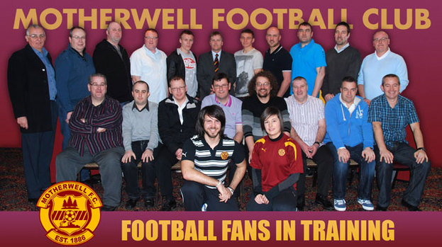 Match fit: Graeme McArthur (front left) with the first Motherwell ...