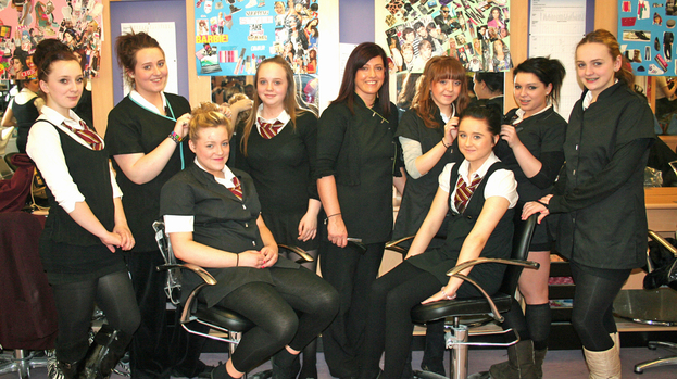 Taylor high school pupils raise cash with charity for Academy salon coatbridge