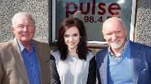 STV chairman Richard Findlay with Amy MacDonald and Sir Tom Hunter